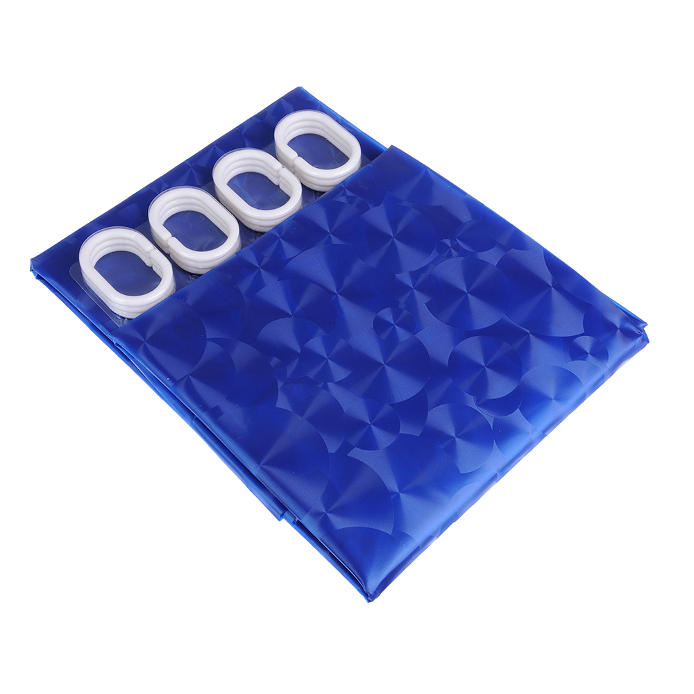 VETTA Шторка для ванной, винил, 180x180см, 12 колец, 3D, 2 дизайна