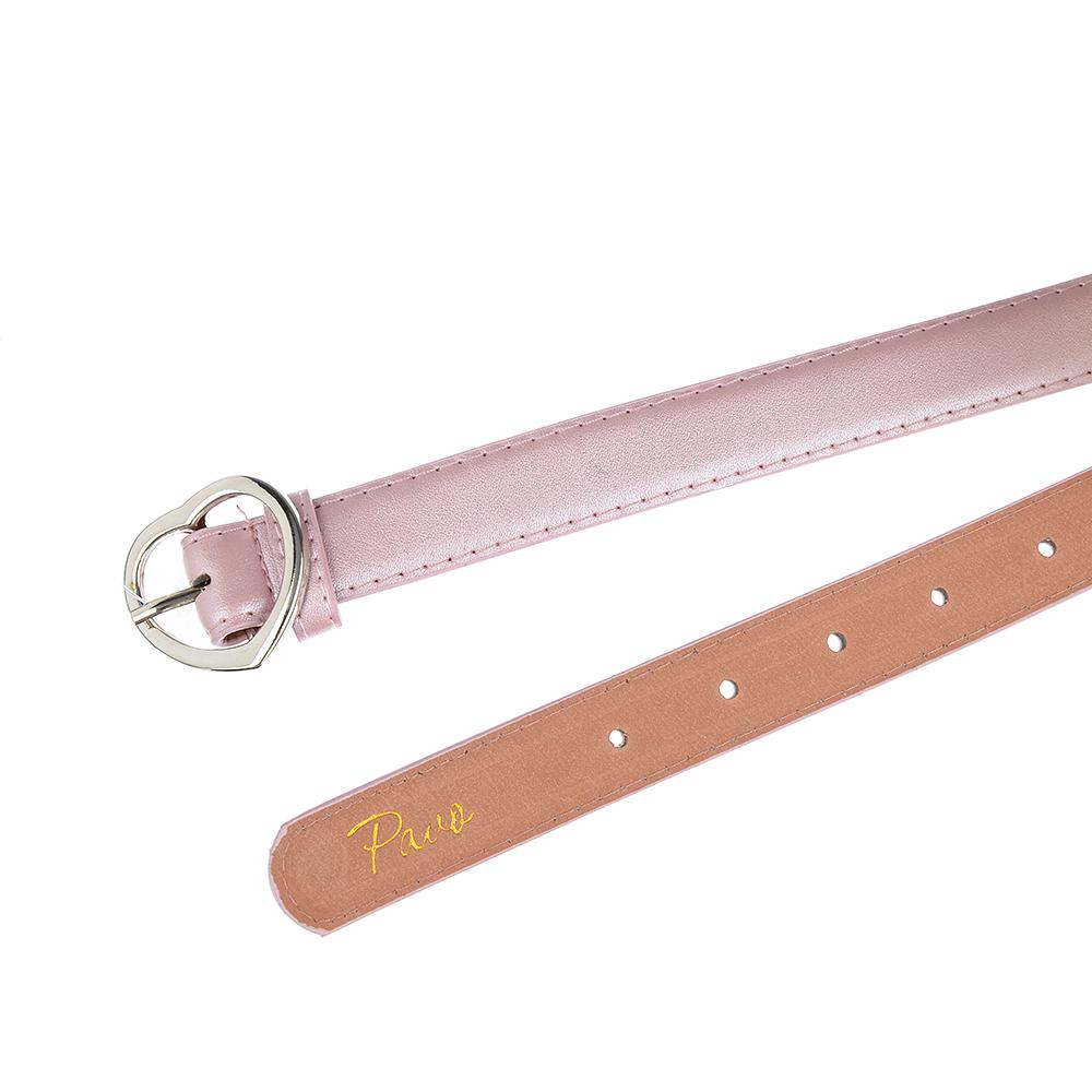 PAVO Ремень для девочек, ПУ, сплав, длина 70/80см, ширина 2,3см, 3 цвета, РД19-2