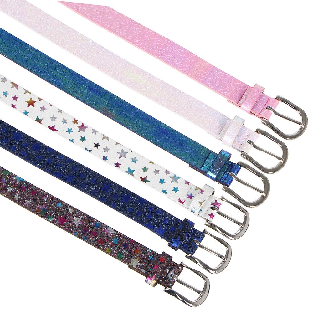 PAVO Ремень для девочек, ПУ, сплав, длина 70/80см, ширина 2,3см, 2 дизайна, РД19-3