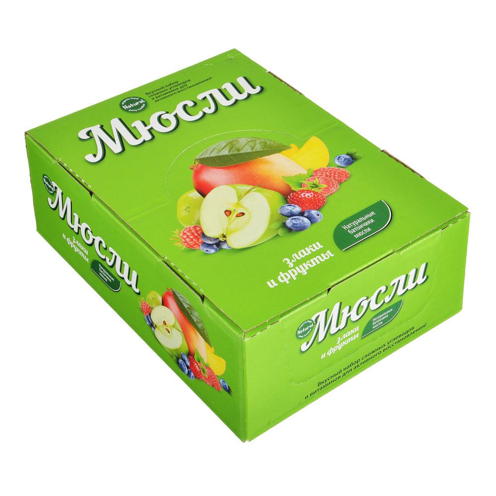 Батончик Effort Мюсли, 40г, 4 вида: малина / черника / земляника / яблоко