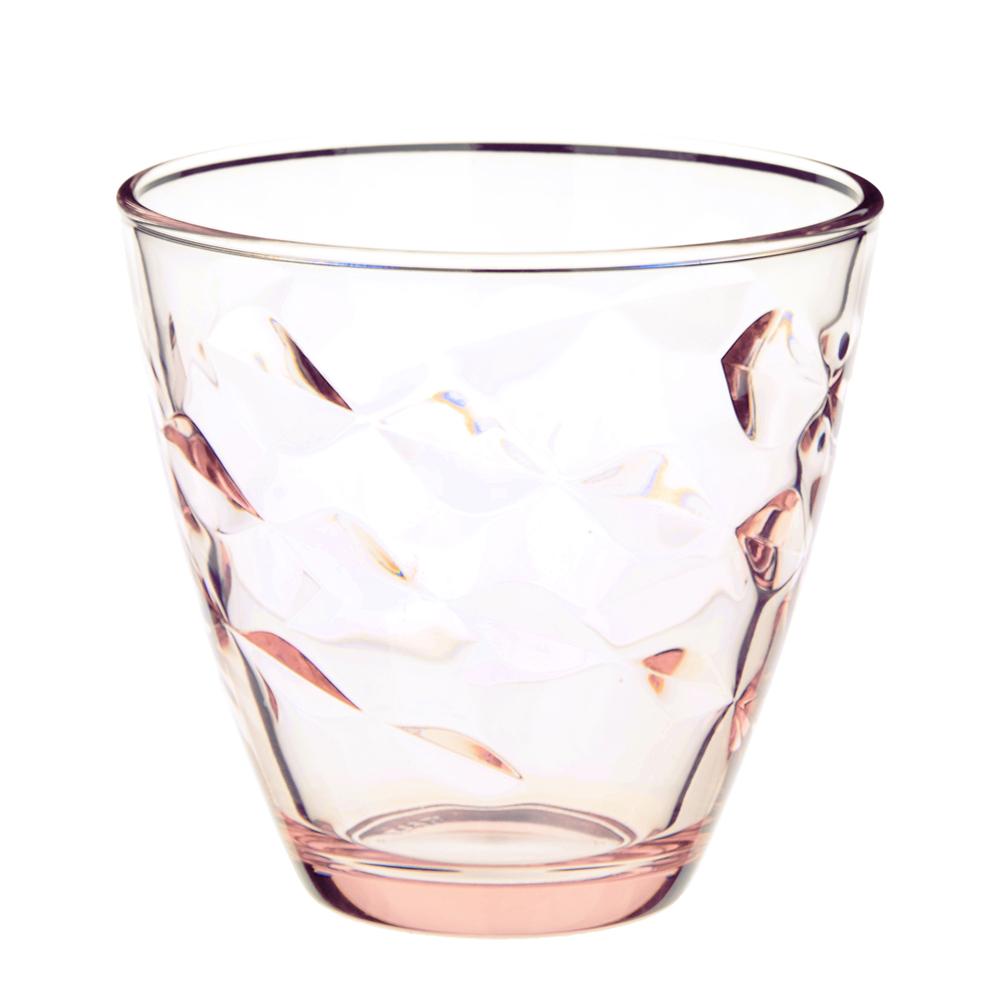 Bormioli Flora Стакан для воды розовый, 260мл, стекло