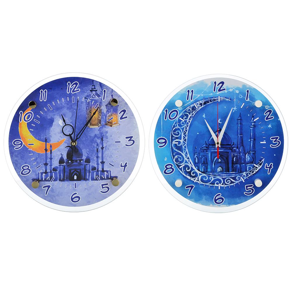 Часы настенные круглые, 30см, стекло, 2 дизайна, МТ 1