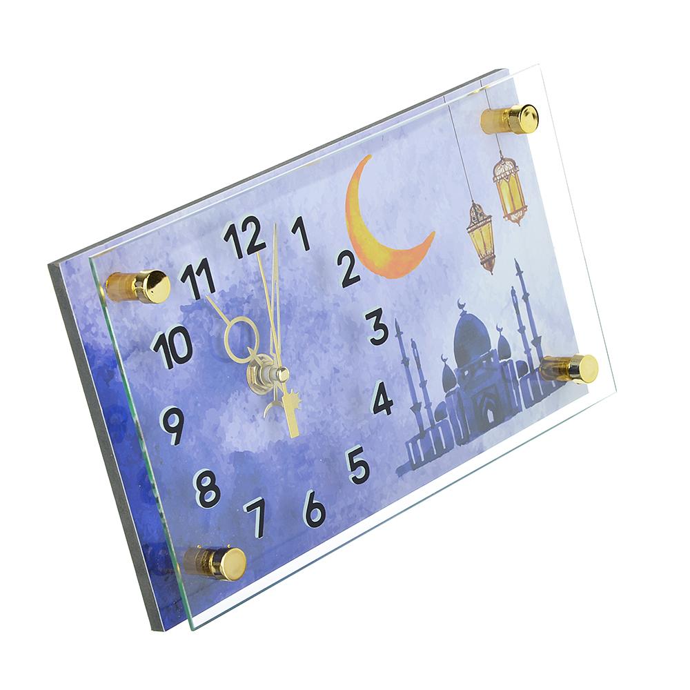 Часы настольные прямоугольной формы, стекло, 13х23см, 2 дизайна , МТ