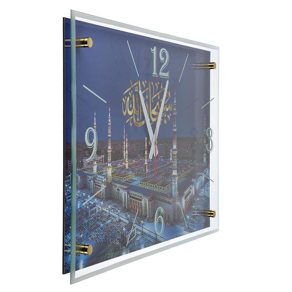 Часы настенные прямоугольной формы, стекло, 57х41х4см, 2 дизайна, МТ