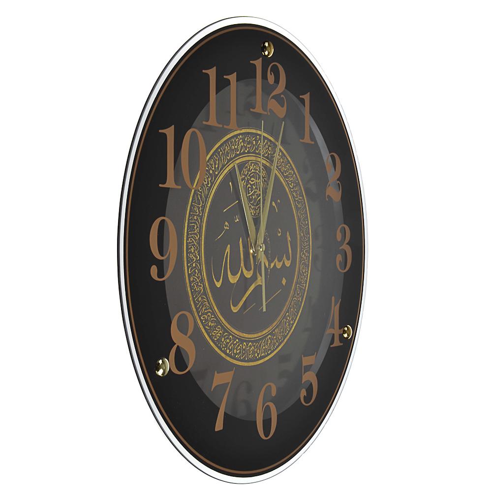 Часы настенные круглые, 39см, стекло, 2 дизайна, МТ 2