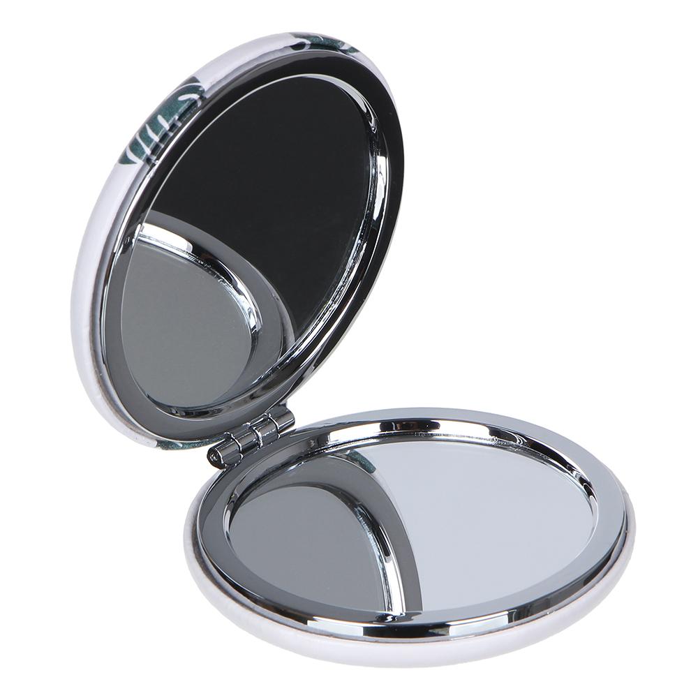 Зеркало карманное, d=7см, ПУ, сплав, 3-12 дизайнов