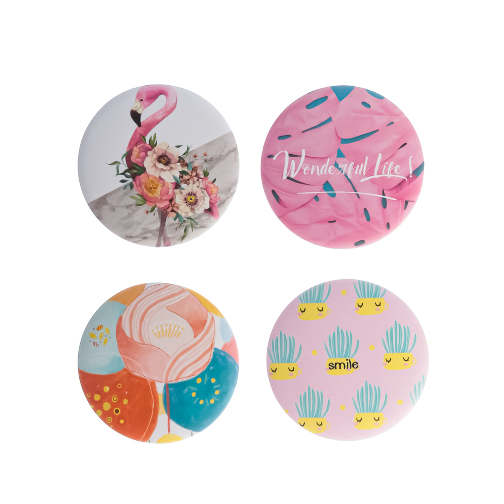 Зеркало карманное ЮниLook, d.7,4 см, 3-16 дизайнов