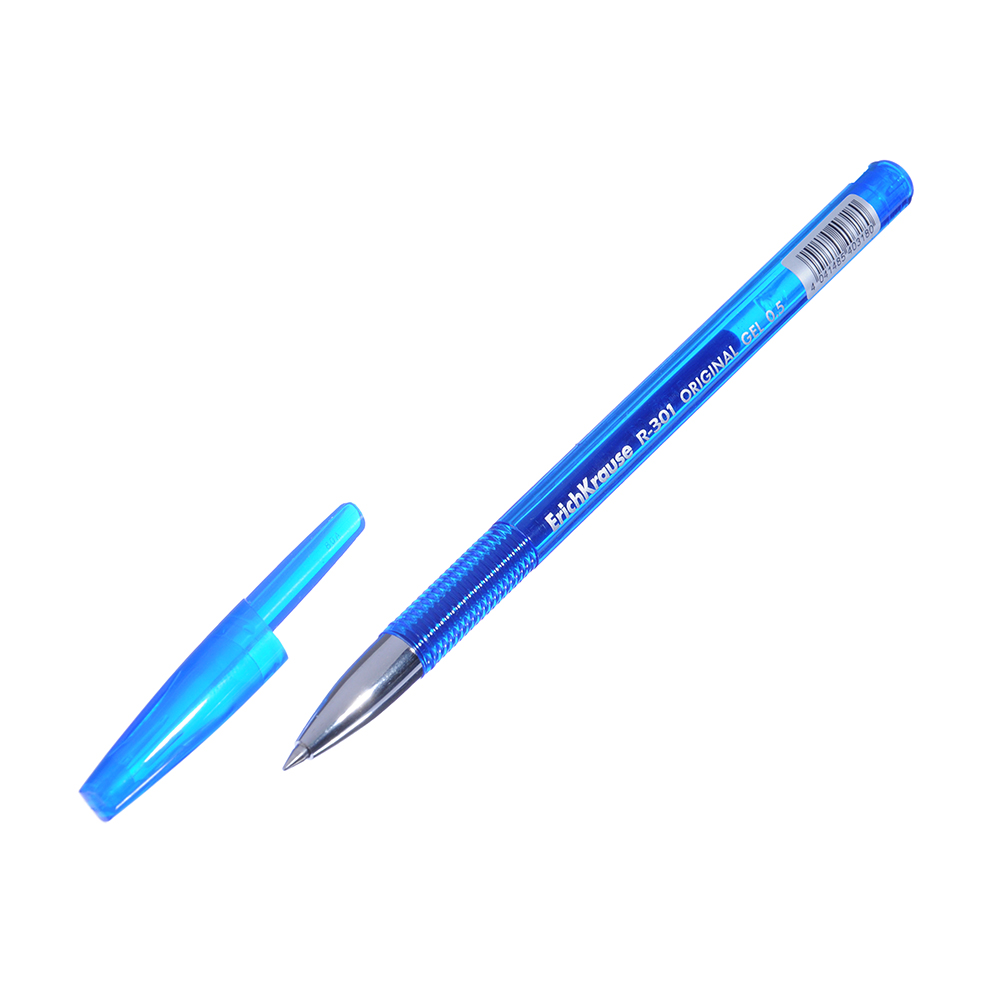 "Erich Krause Ручка гелевая синяя ""R-301 Ориджинал Джел"", 0,5мм, синий корпус, пластик, 40318"