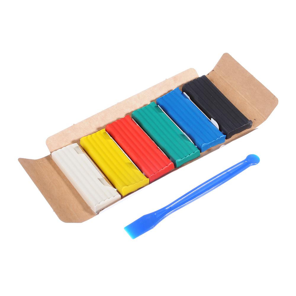 """ГАММА Пластилин 6 цветов 84 гр. """"Юный художник"""", со стеком, в картонной упаковке, 280042"""