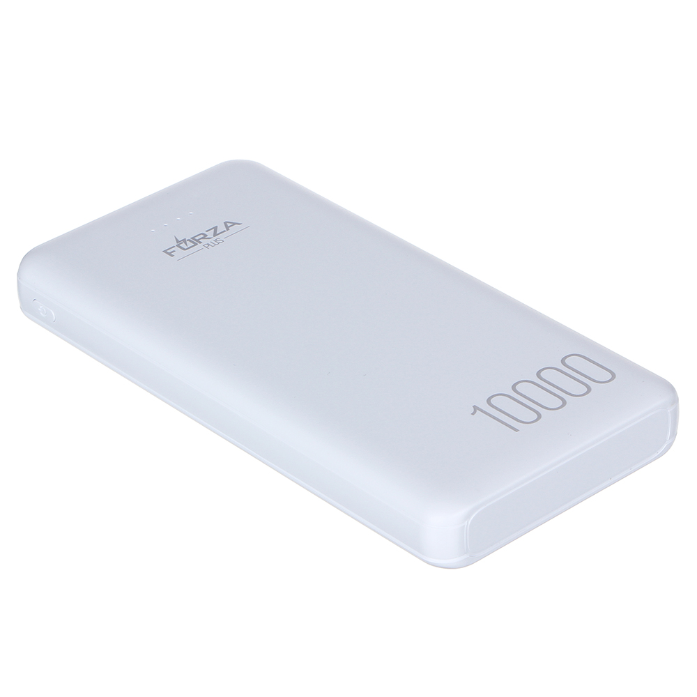 Аккумулятор мобильный FORZA, 10000 мАч, 2 USB, 1А, пластик, 2 цвета