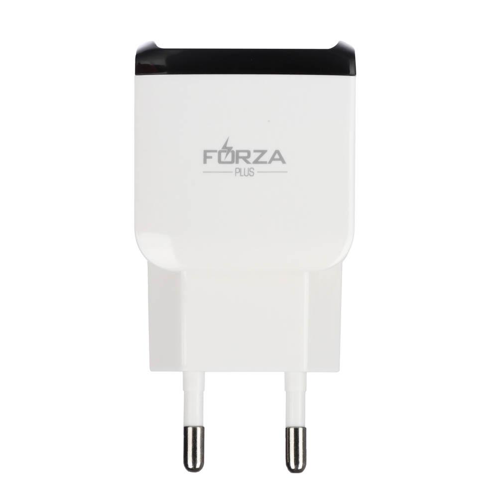 Устройство зарядное FORZA 220В, 2 USB, 2А, пластик, цветное