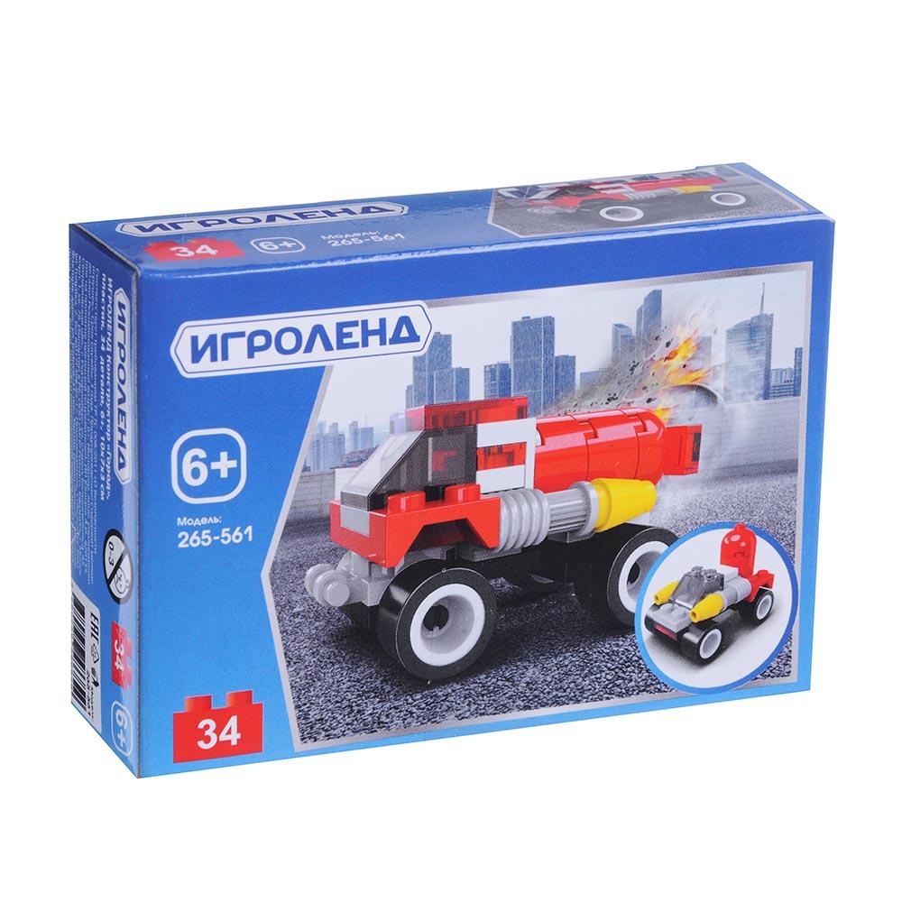 ИГРОЛЕНД Конструктор «Город», ABS, 27-40 дет., 6+, 10х7х3 см, 8 дизайнов