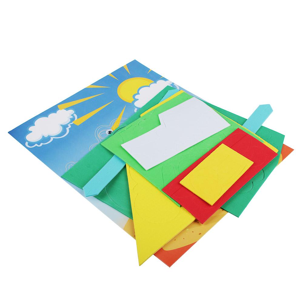 ХОББИХИТ Аппликация развивающая тактильная, ЭВА, картон, 24х29см, 4-5 дизайнов