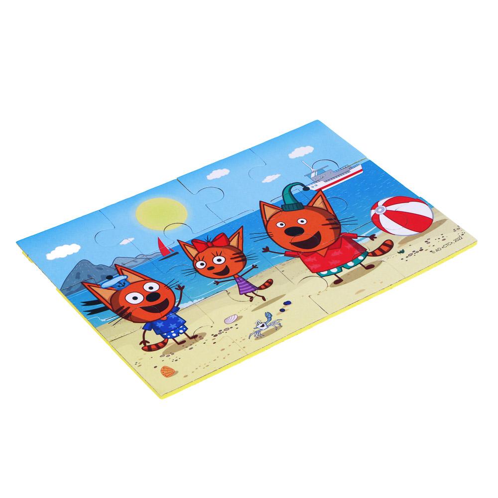 """ИГРОЛЕНД Пазлы для малышей """"Три кота"""", ЭВА, картон, 31,5х16,8х0,4см, 4 дизайна"""