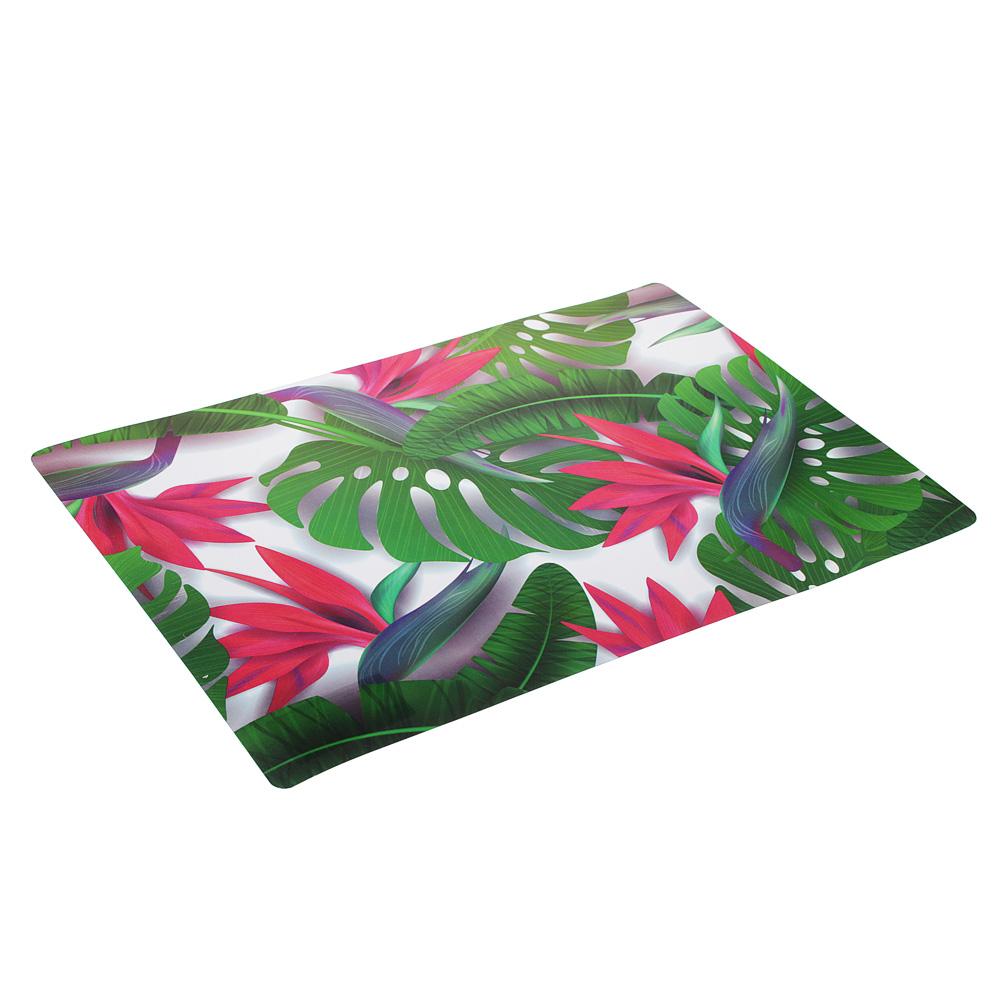 """Салфетка сервировочная, PP, 43x28см, """"Цветы"""", 2 дизайна"""