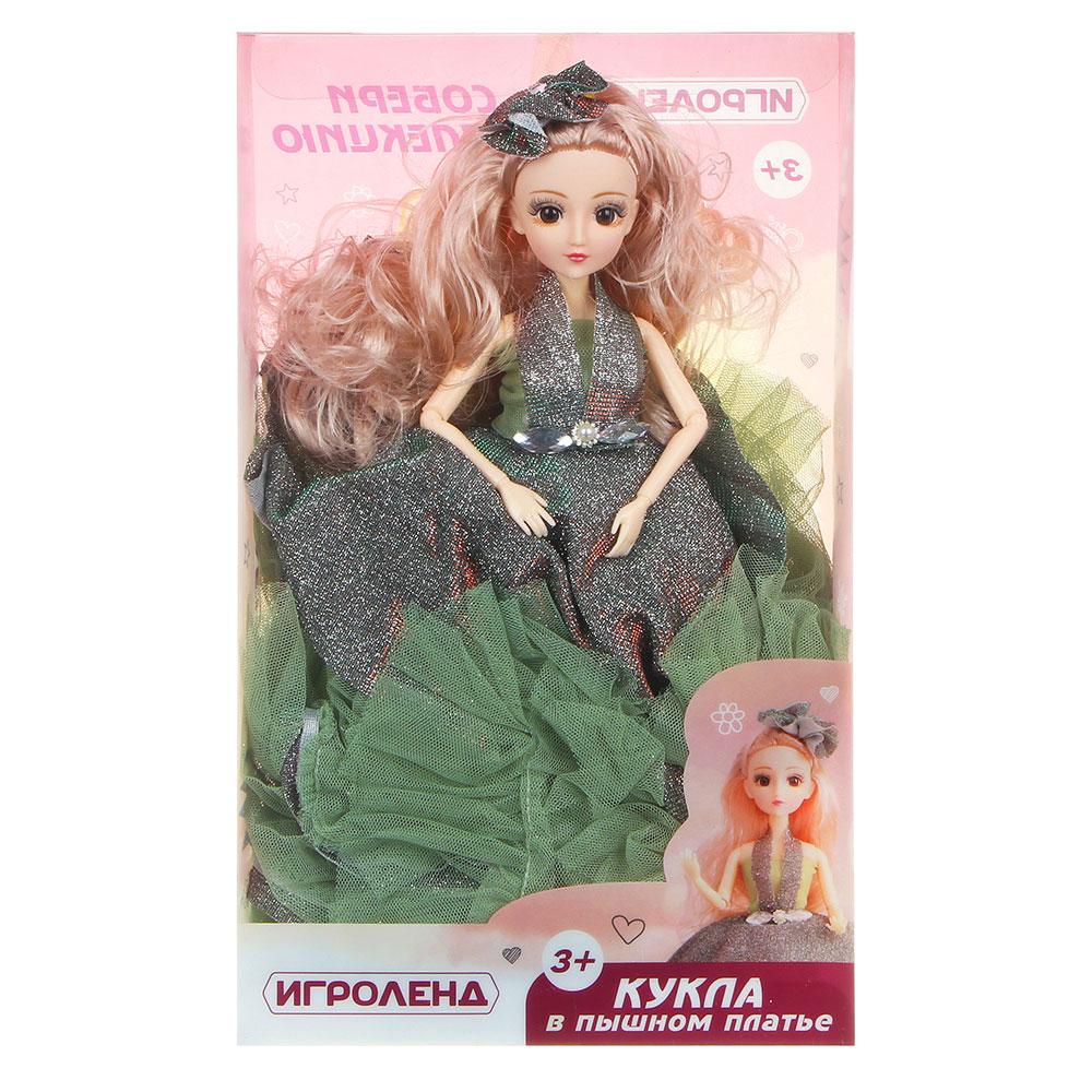 ИГРОЛЕНД Кукла в пышном платье премиум, 30см, пластик, полиэстер, 3-6 дизайнов