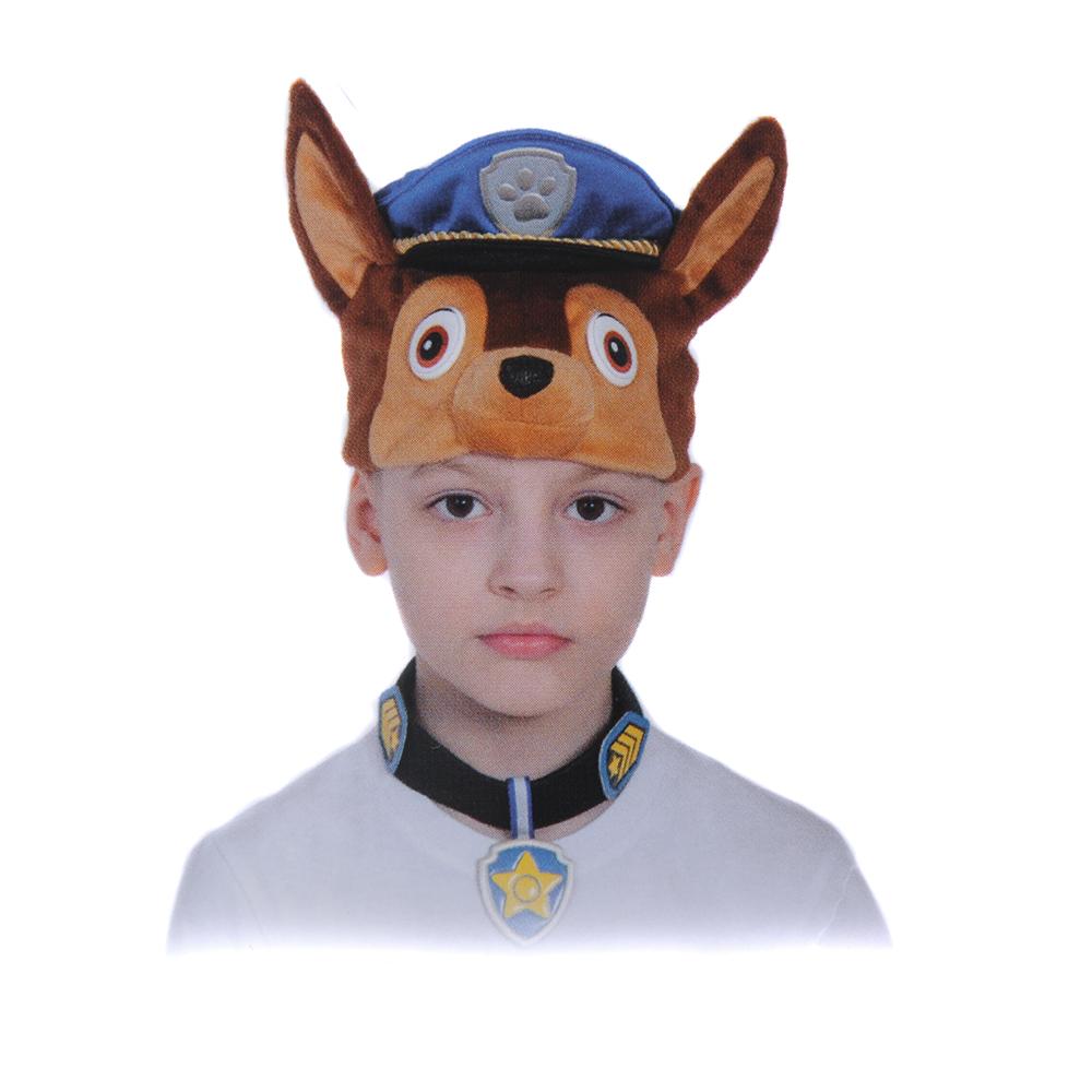 """Карнавальный набор пирата  """"Гончик Чейз"""": маска-шапочка и ошейник с бейджем, размер 53-55см"""
