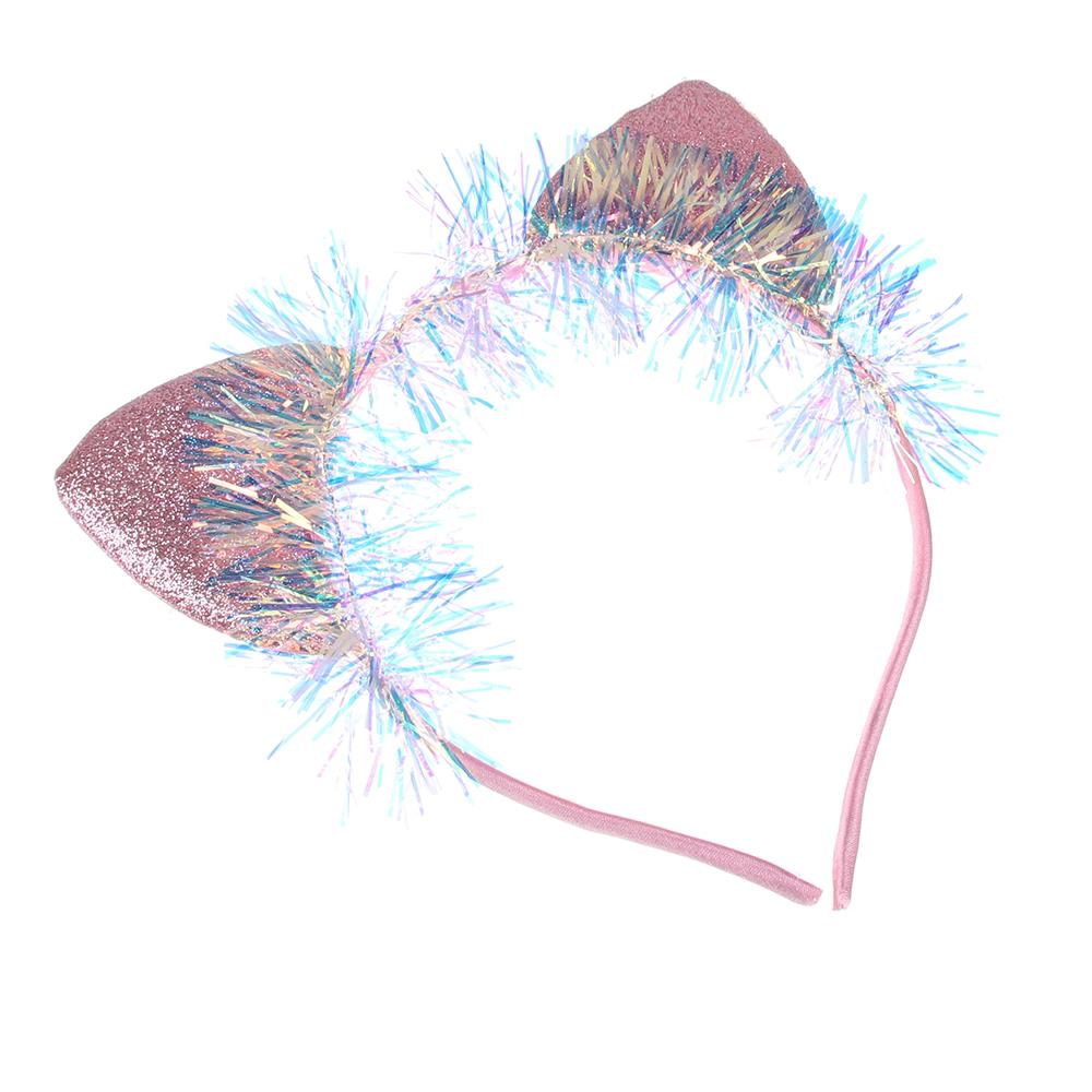 Ободок для волос, полиэстер, ПВХ, сплав, 0,5см, 3 дизайна