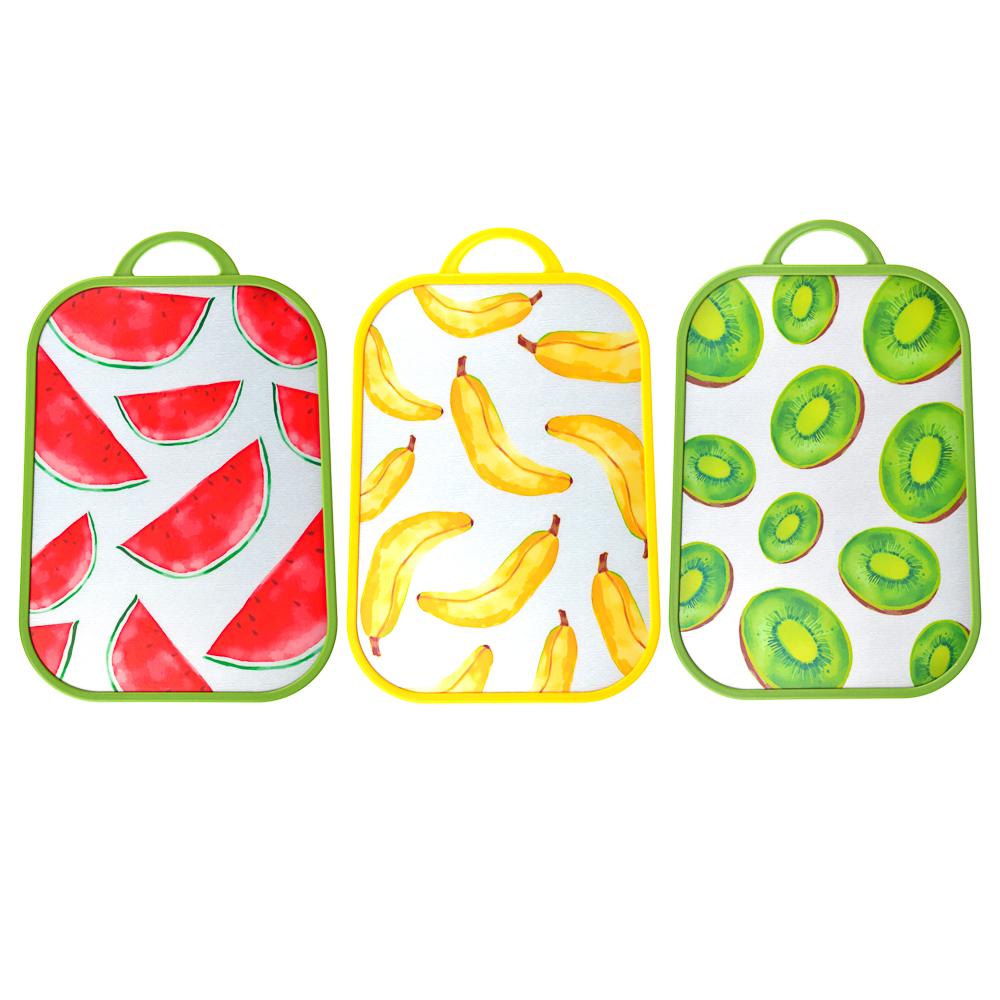 "SATOSHI Доска разделочная ""Фрукты"" 37,5х25,5х1,2см, пластик, 3 дизайна"