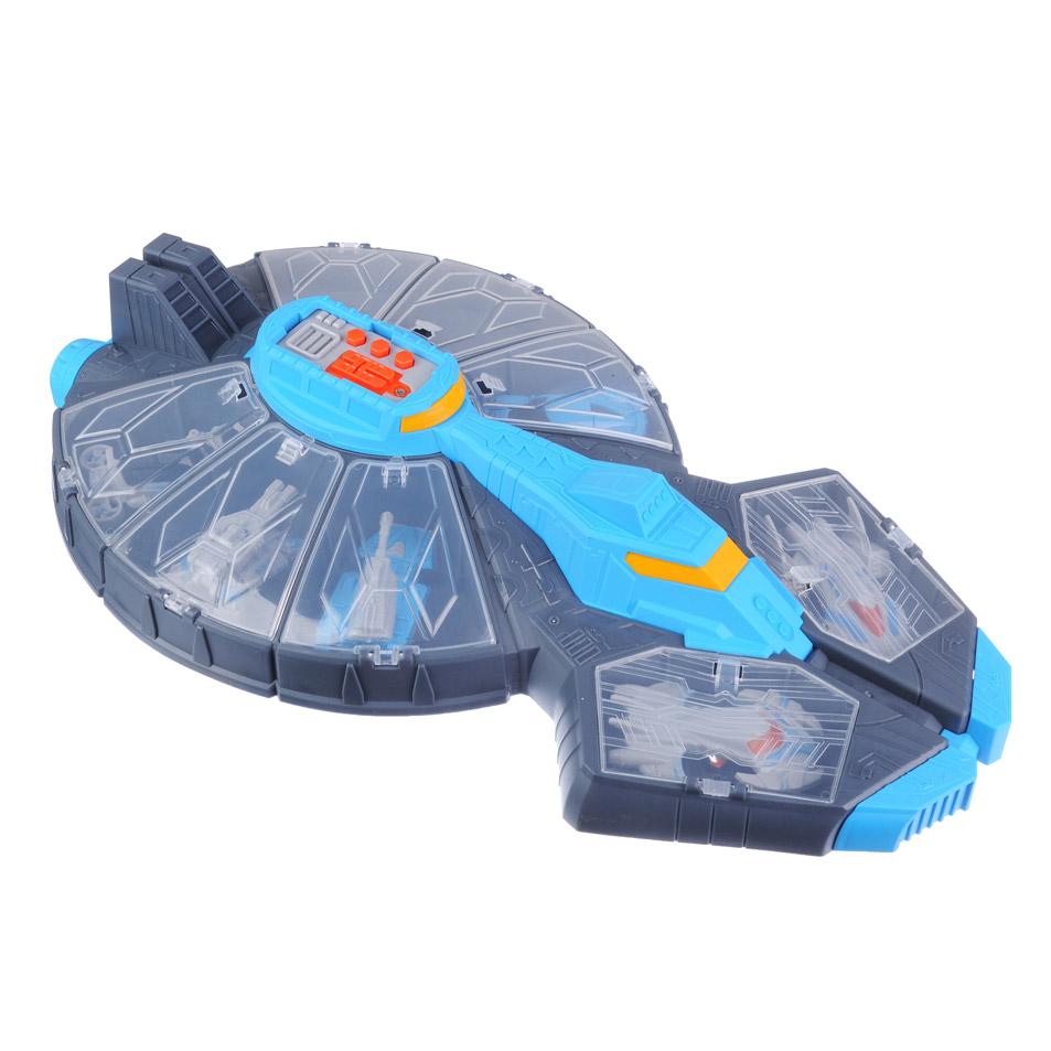 ИГРОЛЕНД Межпланетная станция  с боевым отрядом, звук, 3AG13, пластик, 24х41,5х8см