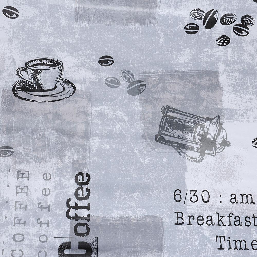 """Скатерть в рулоне 1,37х20 м """"Кофейный принт"""", ПВХ на нетканой основе"""