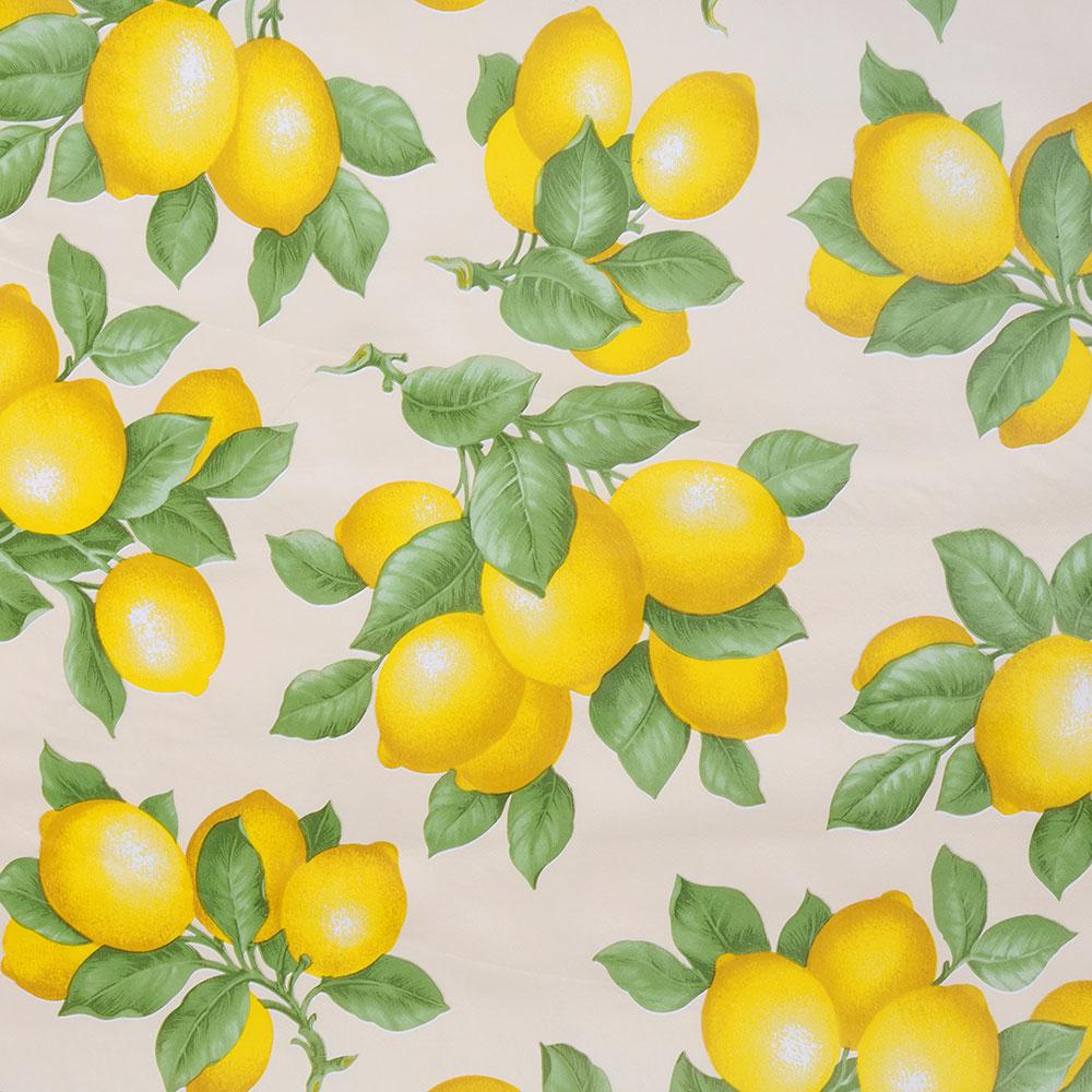 """Скатерть в рулоне 1,37х20 м """"Лимоны"""", ПВХ на нетканой основе"""