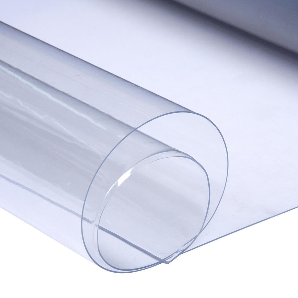 """Клеенка прозрачная ПВХ """"Гибкое стекло"""", 0,8м х 25м х0,5мм"""