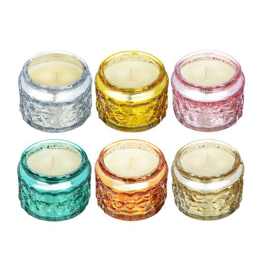 LA DECOR Свеча ароматизированная в стекле, 6 видов, 7,5x5,1см