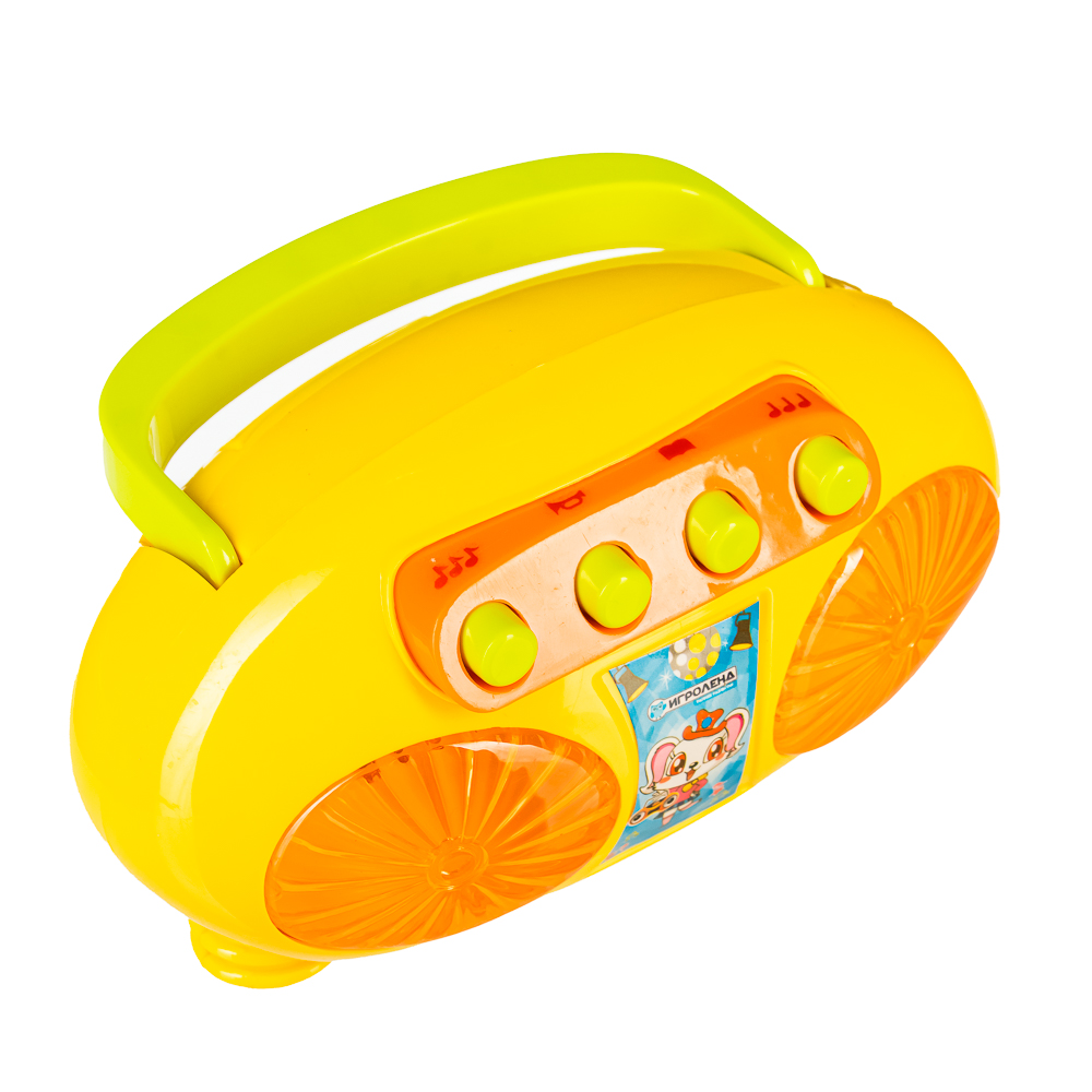 ИГРОЛЕНД Плеер-магнитофон, свет, звук, 2АА, пластик, 13х10х8см, 3 дизайна