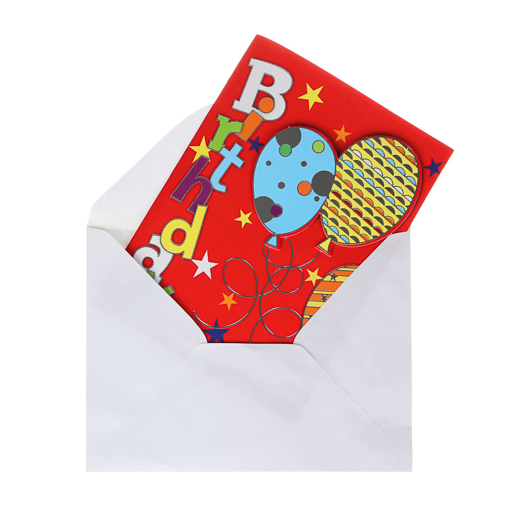 Открытка в конверте музыкальная с подсветкой, 20х14,5 см, 12 дизайнов, бумага