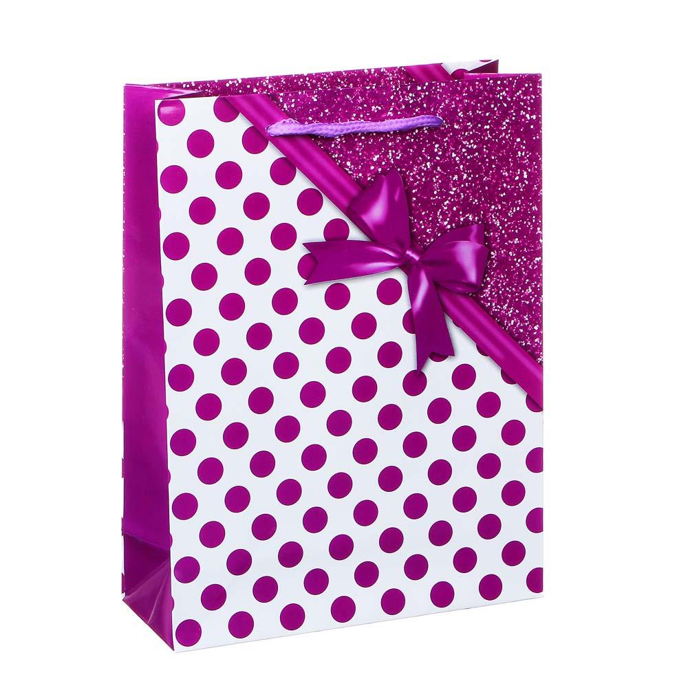 Пакет подарочный бумажный 24х18х7 см, 8 дизайнов