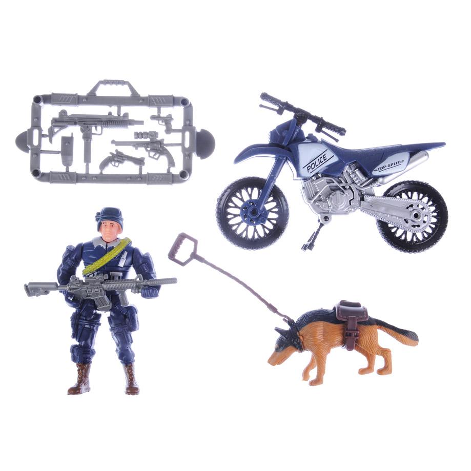ИГРОЛЕНД Набор спец. подразделения, фигурки, аксессуары, 3 вида (военные, полиция, пожарные)