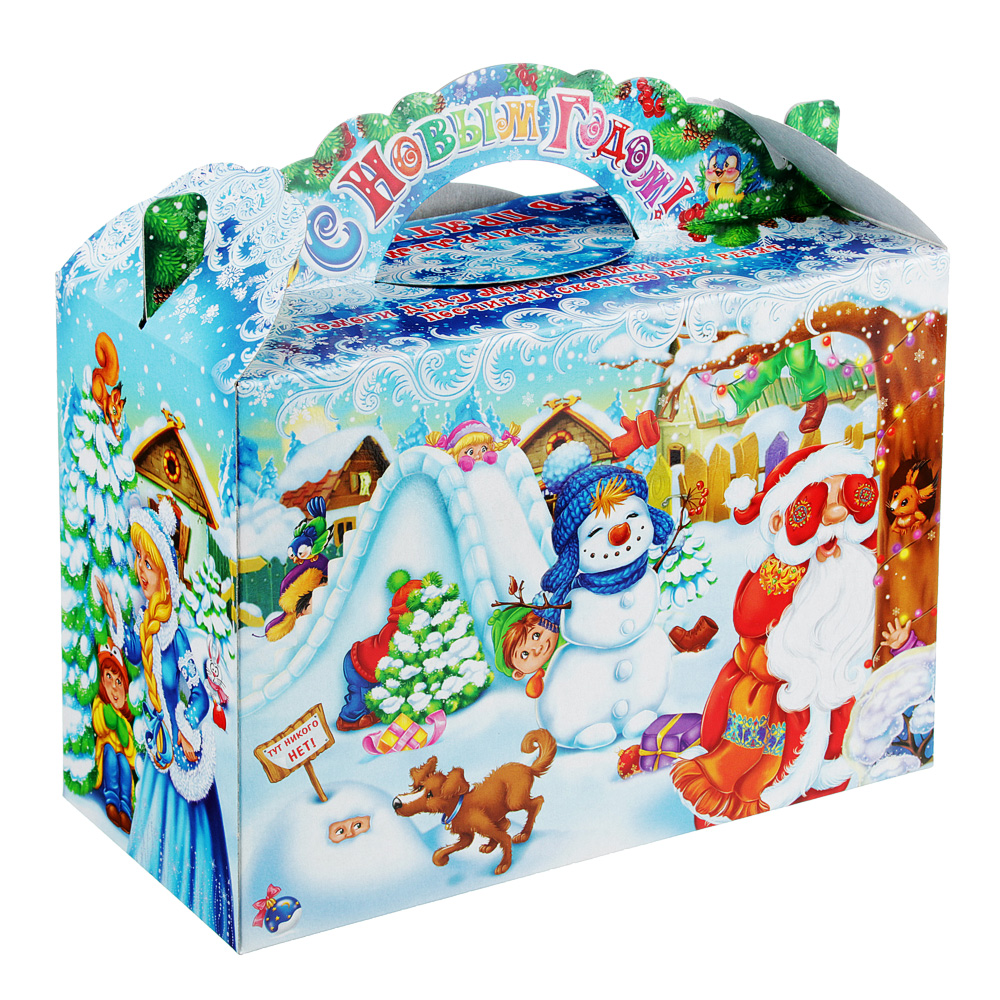 """Коробка для подарков """"Варежки """", картон 390г, 215х230х100мм, до 1000г"""