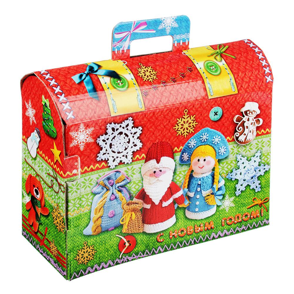 "Коробка для подарков ""Вязаный сундучок"", МГК, 250х90х195мм, до 1000г"