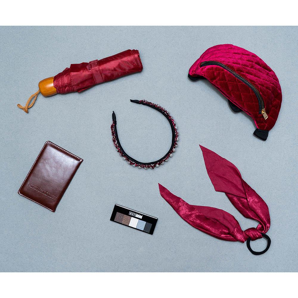 BERIOTTI Ободок для волос с декором, 3 см, полиэстер, пластик, 6 цветов
