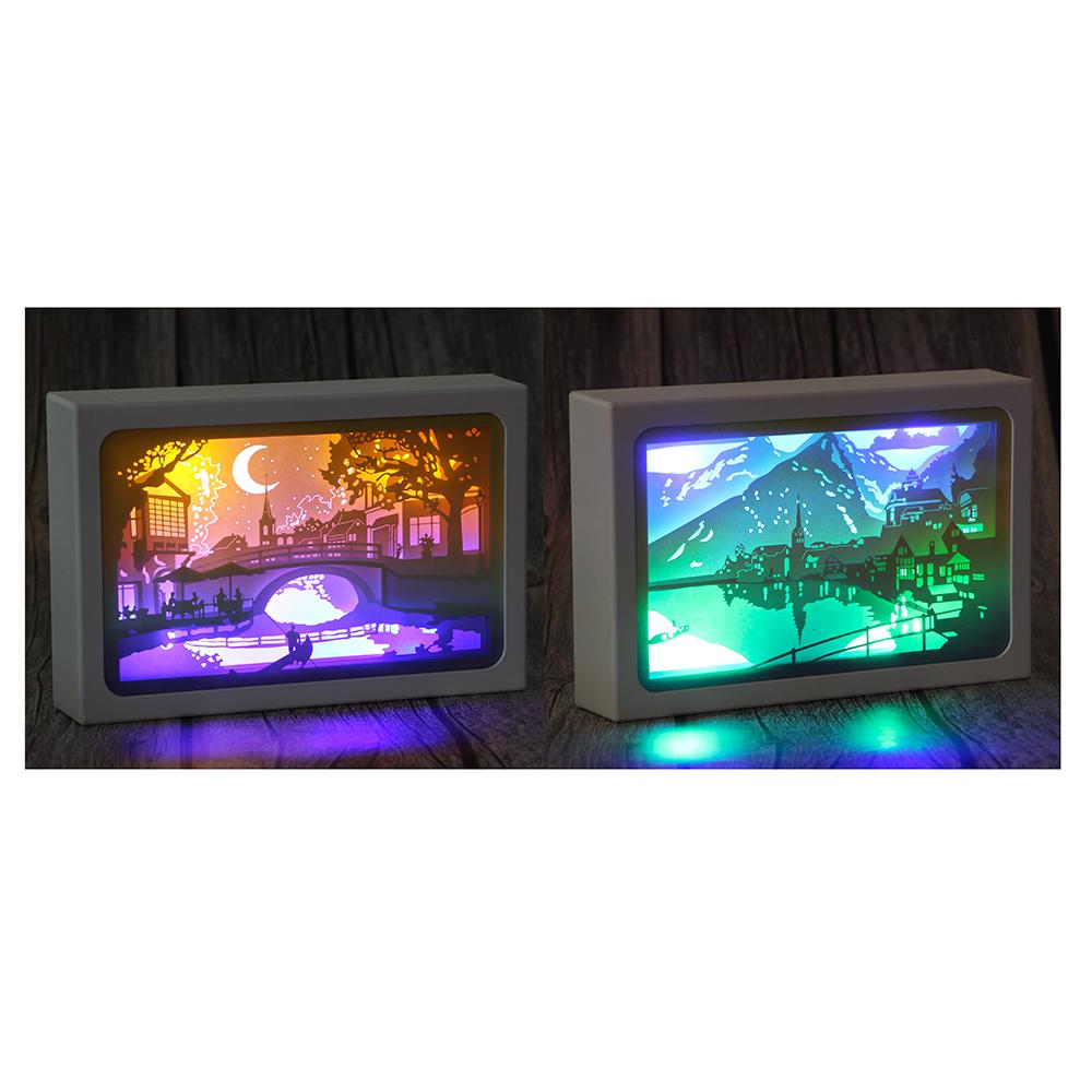 Светильник многослойный, 21,5x14,5x4,5 см, пластик, 2 дизайна, арт 2