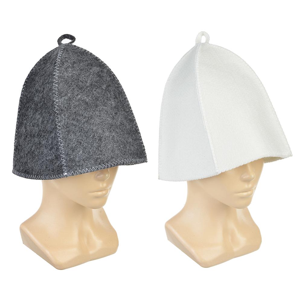 Набор банный без вышивки, 2 пр: шапка, варежка, 30% шерсть,70% полиэфир, 2 цвета