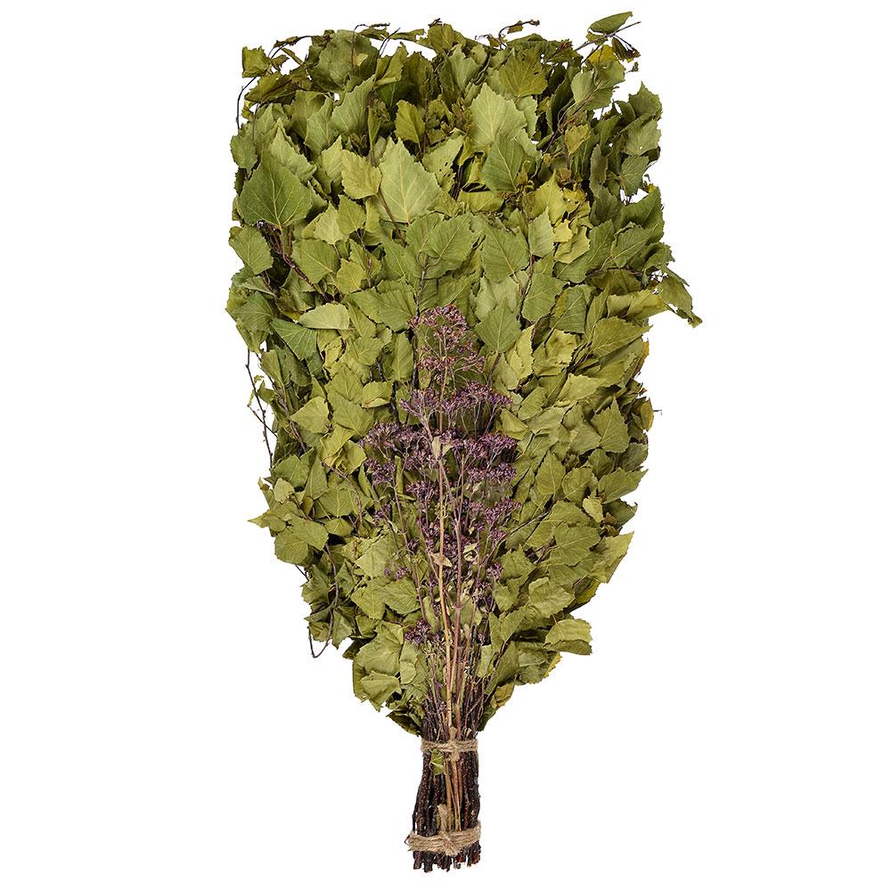Веник берёзовый с лечебными травами, евро, 290гр