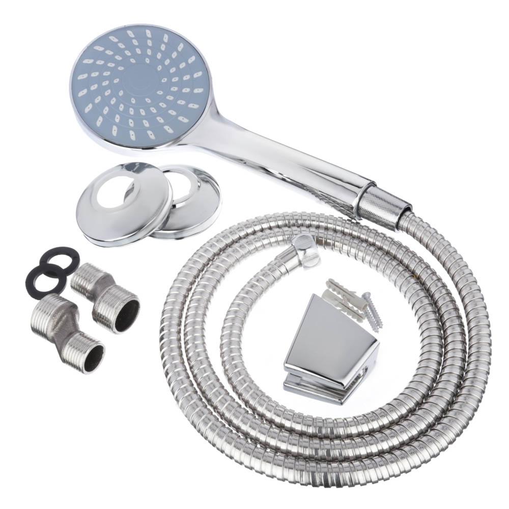 СоюзКран Смеситель для ванны с длинным изливом SK1033, керам. дивертор, с душ. набором, 40мм, цинк