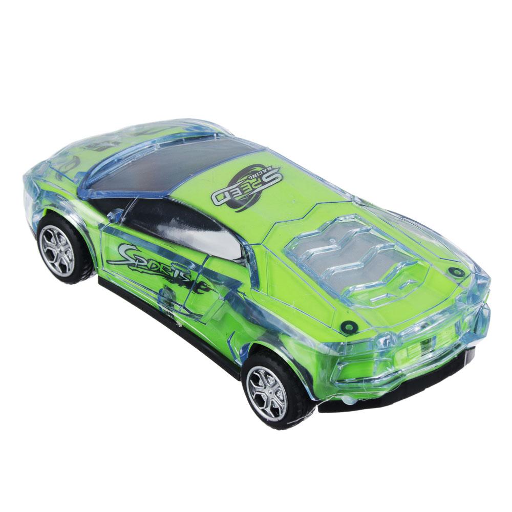 ИГРОЛЕНД Машина спорткар, пластик, свет, звук, инерция, 3хAG13, 6,5х16х3,5 см
