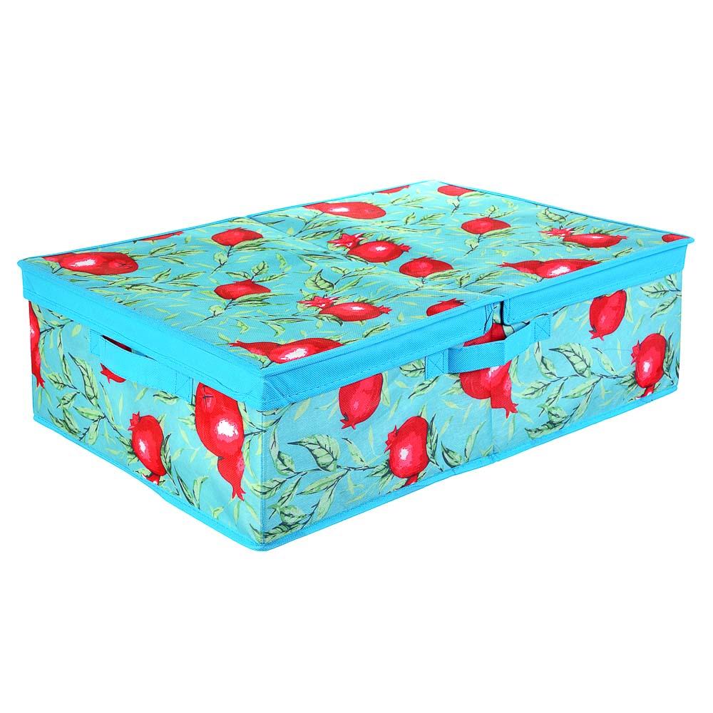 "Короб для хранения VETTA ""Гранат"", с двойной крышкой, 40х58х18 см, спанбонд"