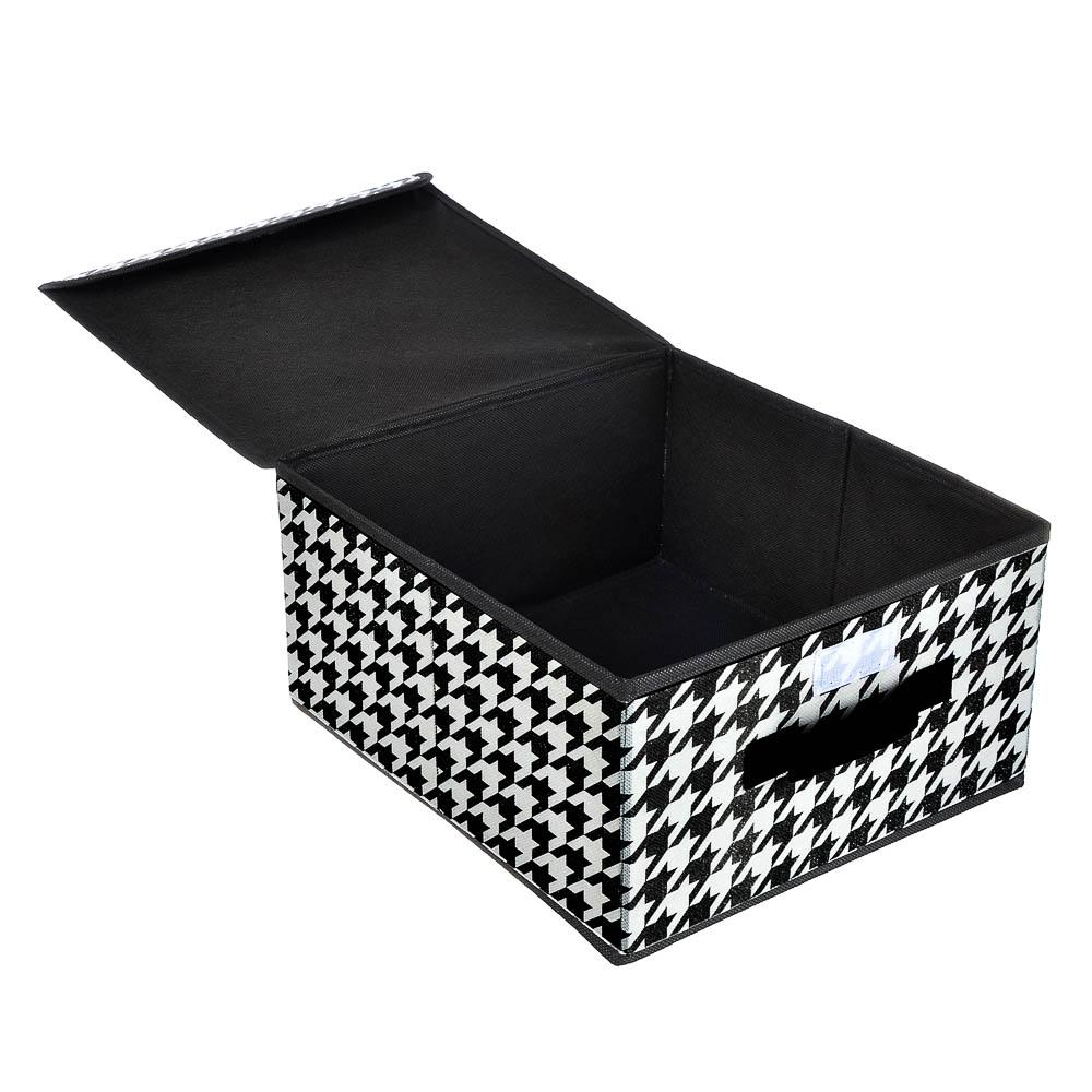 "Кофр для хранения с крышкой VETTA ""Элеганте"", 30х40х25 см,спанбонд"