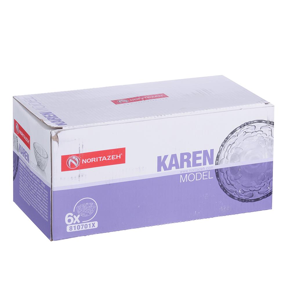 Noritazeh Karen Набор 6 салатников 12см, стекло, под.упак.