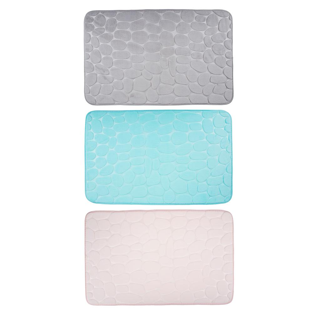 """VETTA Коврик для ванной, флис, 50x80см,""""Камешки"""", 3 цвета"""