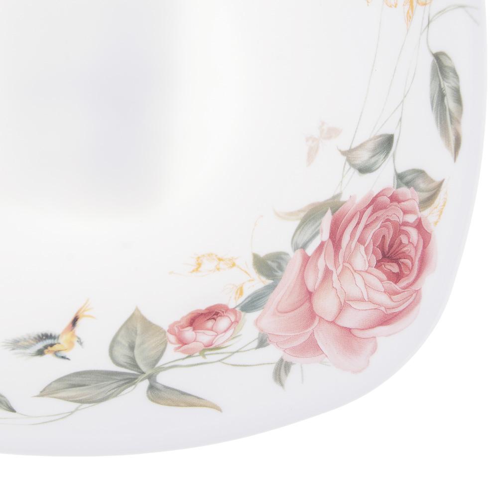 MILLIMI Анета Салатник опаловое стекло 16,5см, квадратная форма, 19019