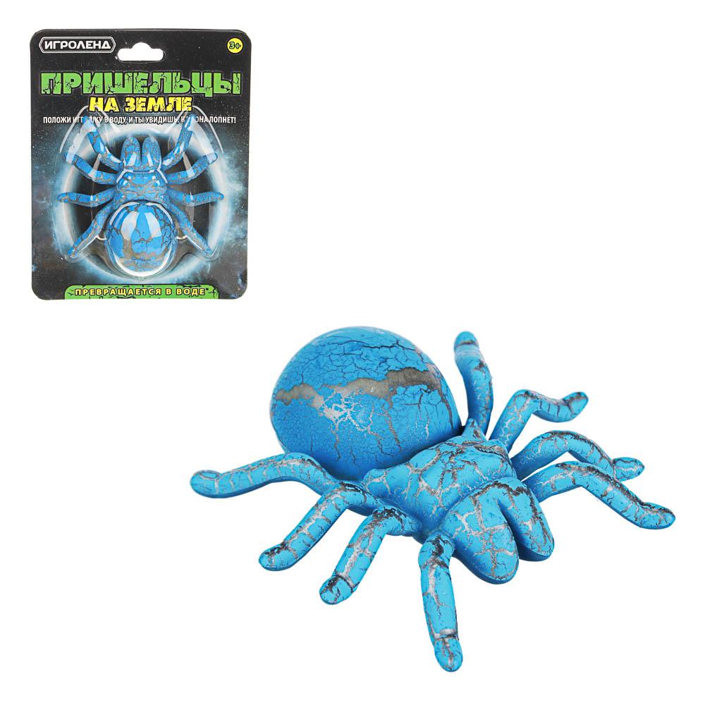 """ИГРОЛЕНД Игрушка """"Пришельцы на земле"""", превращающаяся в воде, полимер, 9,5х12х4см, 2-4 цвета"""