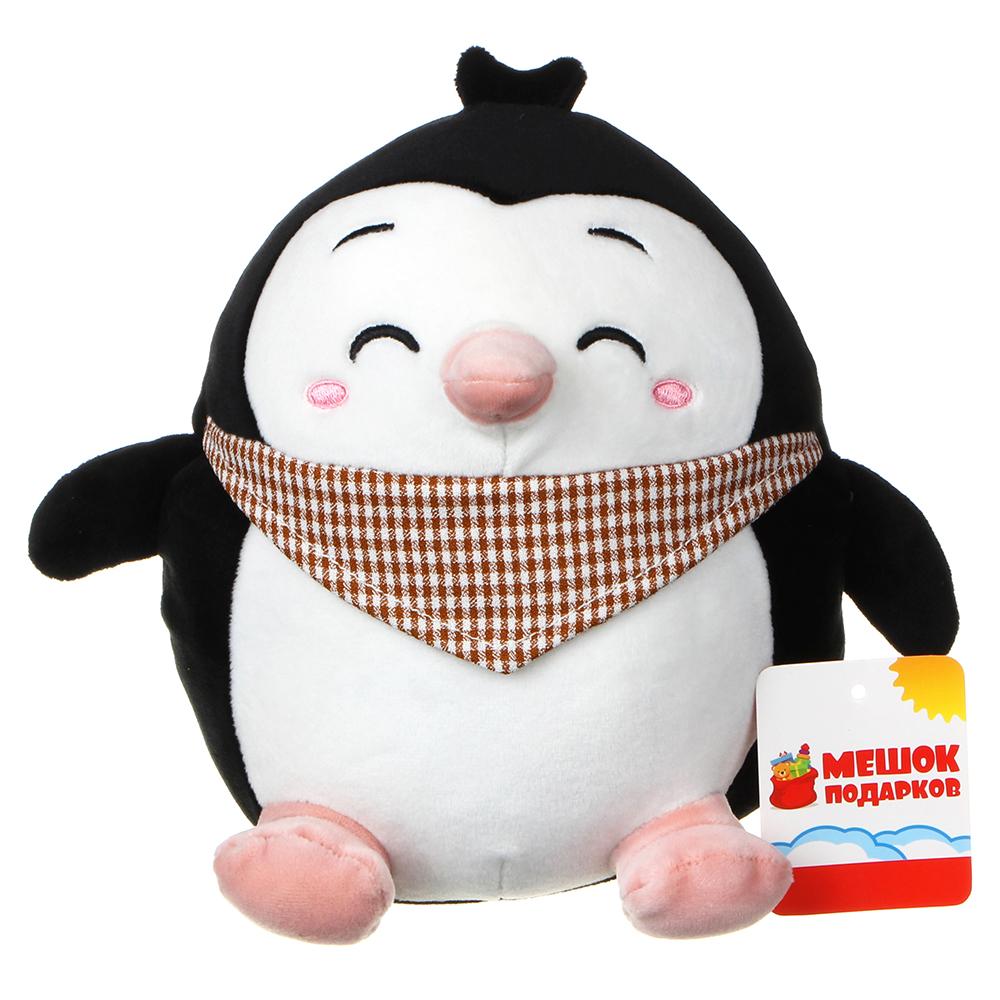 МЕШОК ПОДАРКОВ Игрушка мягкая в виде пингвина, полиэстер, 21х20см, 2-4 цвета