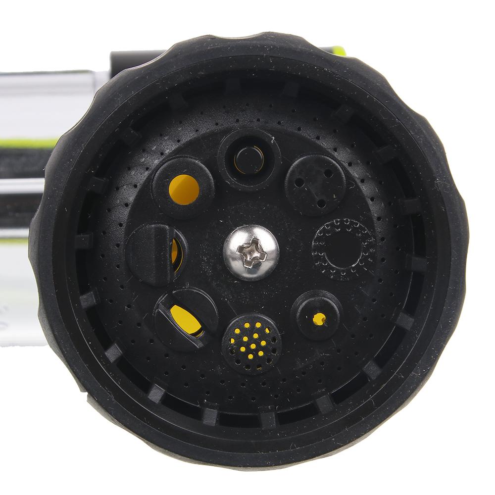 INBLOOM Пистолет-разбрызгиватель, 8 реж., с емкостью д/удобрений, 100мл, курок с фиксатором, ABS +PP