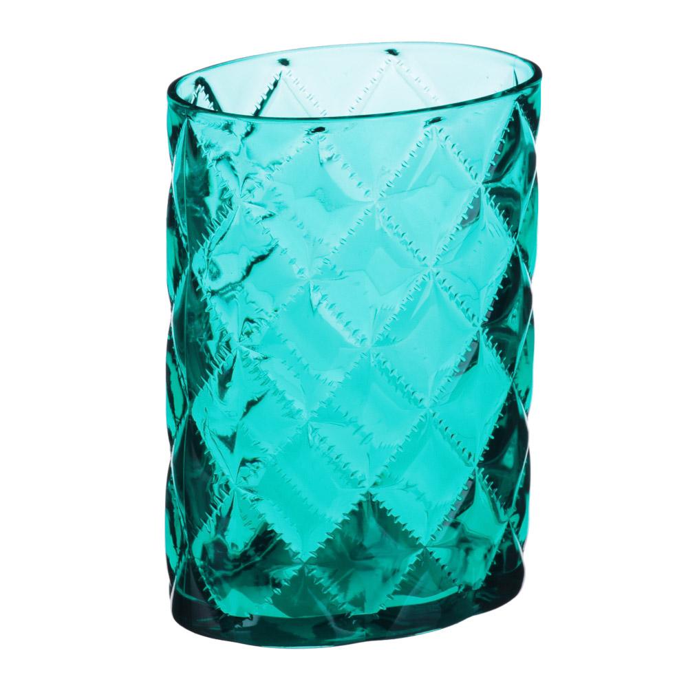 """VETTA Стакан для ванной комнаты, """"Ромбо"""", пластик, 8,3х5,7х11см, 2 цвета"""