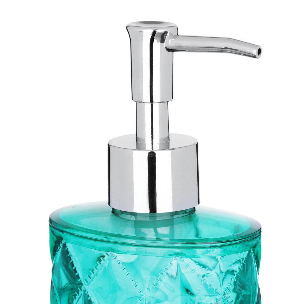 """VETTA Дозатор для жидкого мыла, """"Ромбо"""", пластик, 8,3х5,7х17см, 2 цвета"""